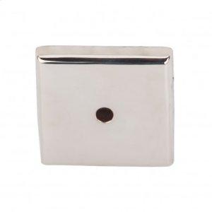 Aspen II Square Backplate 1 1/4 Inch - Polished Nickel