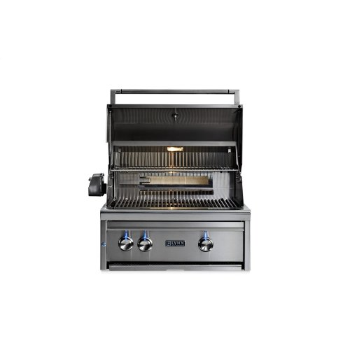 "27"" Lynx Professional Built In Grill with 1 Trident and 1 Ceramic Burner and Rotisserie, LP"