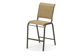 Balcony Height Stacking Armless Cafe Chair