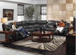 Power Reclining Sofa - Steel