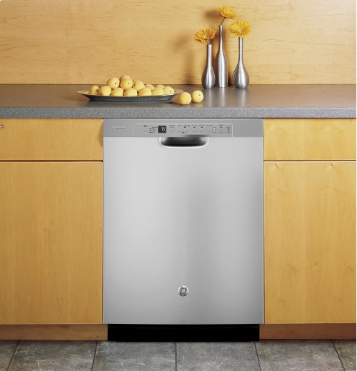 GE Profile™ Stainless Steel Interior Dishwasher with Front Controls - CLEARANCE MODEL