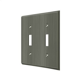 Switch Plate, Double Standard - Antique Nickel