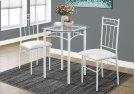 DINING SET - 3PCS SET / WHITE METAL / TEMPERED GLASS Product Image