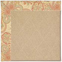 Creative Concepts-Cane Wicker Paddock Shawl Persim Machine Tufted Rugs