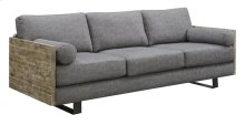 Interlude - Sofa W/2 Bolster Pillows-charcoal Blue/sandstone Finish