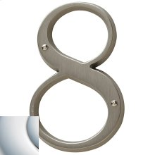 Polished Chrome House Number - 8