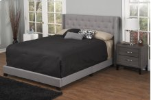 Light Grey Fabric Upholstered 3pc. Full Bed