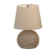 Natural Crazy Weave Accent Lamp. 40W Max.
