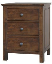 Alder Heritage 3 Drawer Nightstand - Wide Product Image