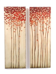 12 x 34.5 in. Wood Crafted Tree (set of 2)