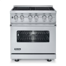 "Metallic Silver 30"" Electric Induction Range - VISC (Canada Model)"