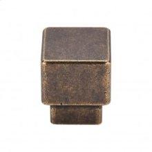 Tapered Medium Square Knob 1 Inch - German Bronze