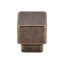 Tapered Square Knob 1 Inch - German Bronze