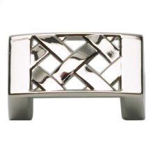 Lattice Knob 1 5/8 Inch - Polished Nickel