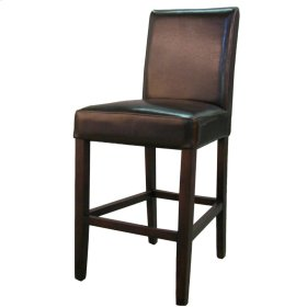 Hartford Bonded Leather Counter Stool, Brown