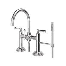 Polished Chrome Tisbury Deck Mounted Tub Filler