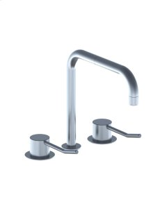 Three-hole mixer combination with long lever consisting of 2 pcs - Grey