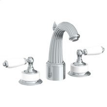 Deck Mounted 3 Hole Extended Lavatory Set