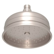 "Satin Nickel 6"" Bordano Rain Anti-Cal Showerhead"