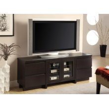 Contemporary Cappuccino TV Console