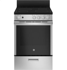 "GE 24"" 2.9 cu ft Free Standing Electric Steam Clean Range"