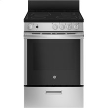 "GE 24"" 2.9 cu ft Slide-In Electric Steam Clean Range"