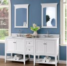 "Shaker Americana 72"" Open Shelf Modular Vanity - Polar White Product Image"