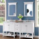 "Shaker Americana 72"" Open Shelf Modular Vanity - Polar White Product Image"