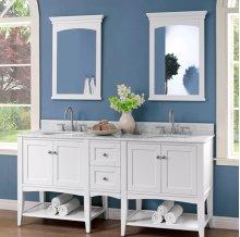"Shaker Americana 72"" Open Shelf Modular Vanity - Polar White"