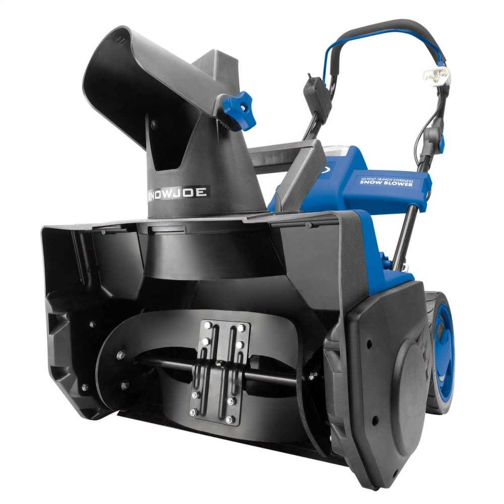 Snow Joe iON18SB Cordless Single Stage Snow Blower  18-Inch  40 Volt  Brushless