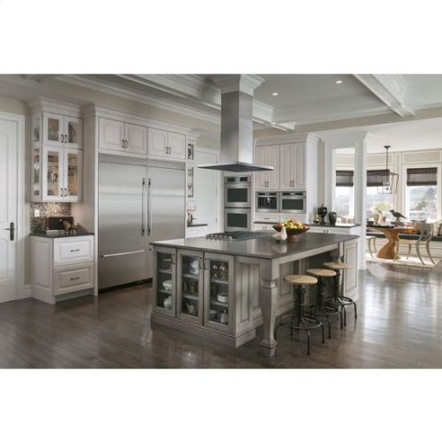 """Double Wall Oven with V2™ Vertical Dual-Fan Convection System, 30"""", Floating Glass Black"""