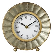 Galvanized Fluted Desk Clock