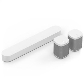White- Upgrade your TV with our most advanced soundbar. Add surround sound without wires.