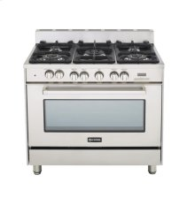 """Stainless Steel 36"""" Dual Fuel Convection Range with Single Oven"""