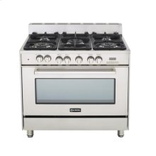 "Stainless Steel 36"" Dual Fuel Convection Range with Single Oven"