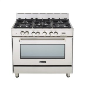 """VeronaStainless Steel 36"""" Dual Fuel Convection Range with Single Oven"""