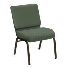 Wellington Cactus Upholstered Church Chair - Gold Vein Frame
