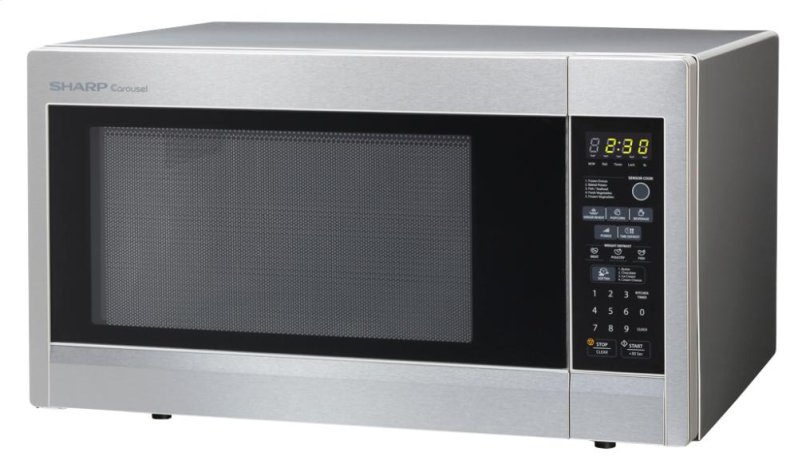 1100w Stainless Steel Additional Sharp Carousel Countertop Microwave Oven 1 8 Cu Ft