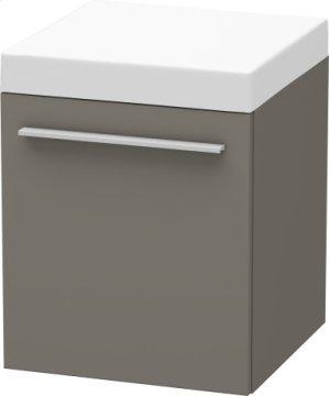 Mobile Storage Unit, Flannel Grey Satin Matt Lacquer