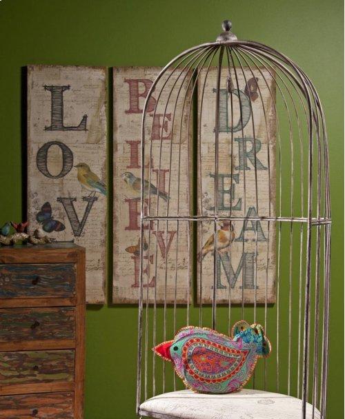 Viscaria Dream Believe Love Wall Decor - Ast 3