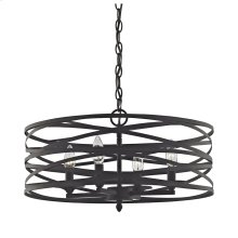 Vorticy 4-Light Chandelier in Oil Rubbed Bronze with Metal Cage