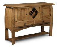 Aspen Open Sideboard with Wine Rack and Inlay Product Image