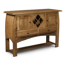 Aspen Open Sideboard with Wine Rack and Inlay