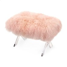 Camlin Tibetan Fur and Acrylic Bench