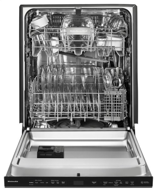 44 DBA Dishwashers with Clean Water Wash System and PrintShield Finish, Pocket Handle - Black Stainless