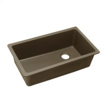 "Elkay Quartz Classic 33"" x 18-3/4"" x 9-1/2"", Single Bowl Undermount Sink, Mocha"