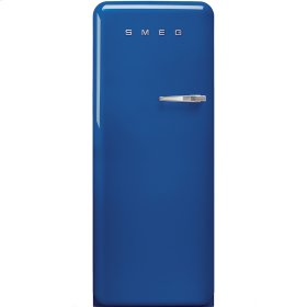 50'S Style Refrigerator with ice compartment, Blue, Left hand hinge