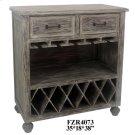 Stockton Chestnut Wash 2 Drawer Wine Cabinet Product Image