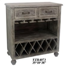 Stockton Chestnut Wash 2 Drawer Wine Cabinet