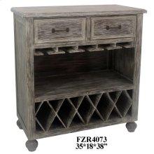 Stockton Chestnut Wash 2 Drawer Wine Cabinet